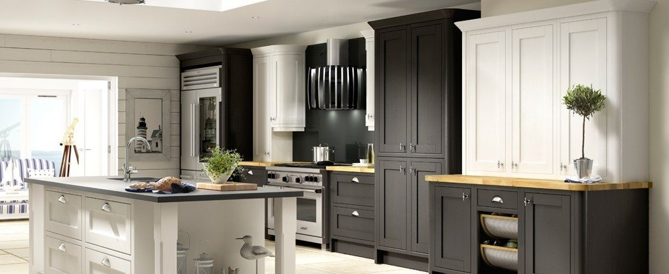 New England Chalk White And Black Gallery Kitchens