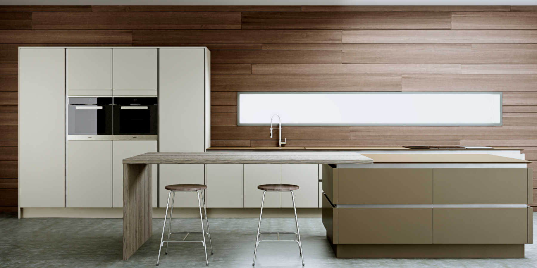 Linear avant gallery kitchens for Linear kitchen design
